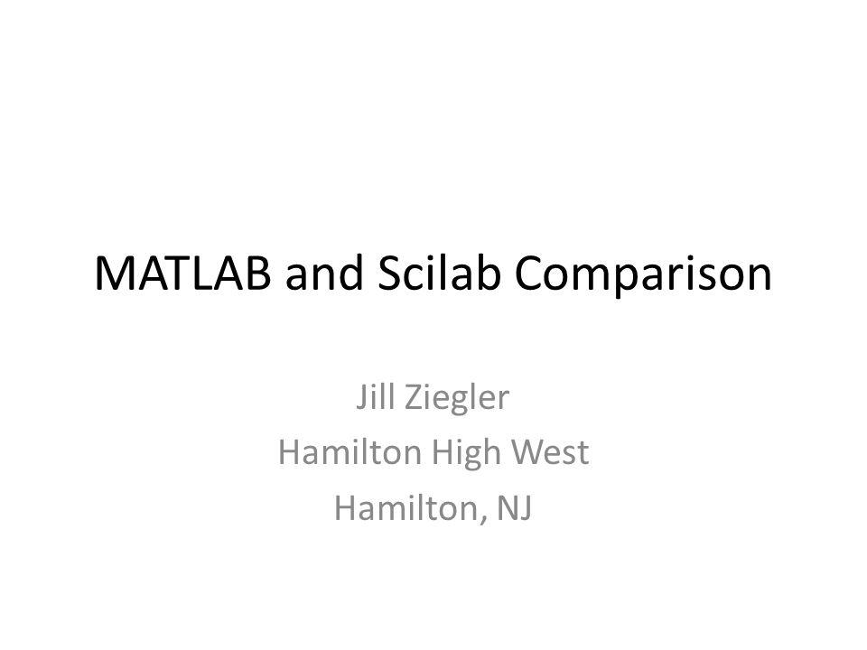 MATLAB and Scilab Comparison