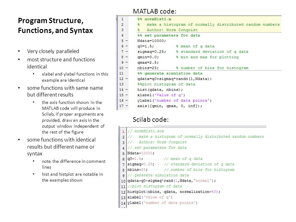 Program Structure, Functions, and Syntax