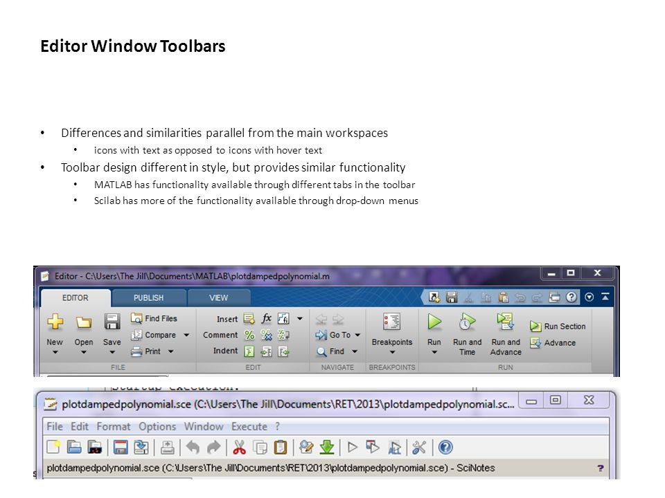 Editor Window Toolbars