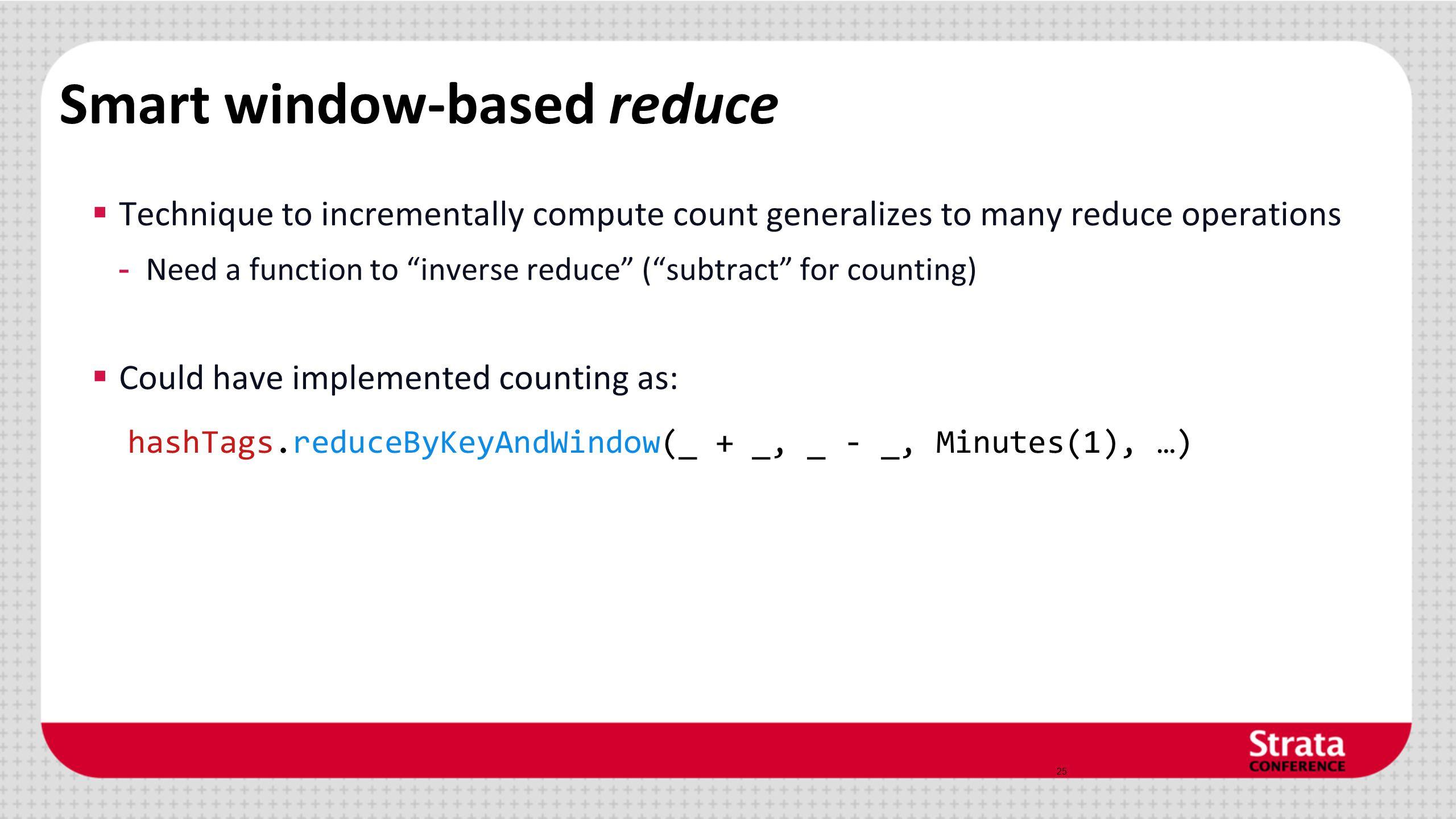 Smart window-based reduce
