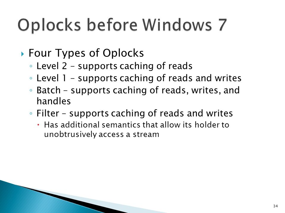 Oplocks before Windows 7