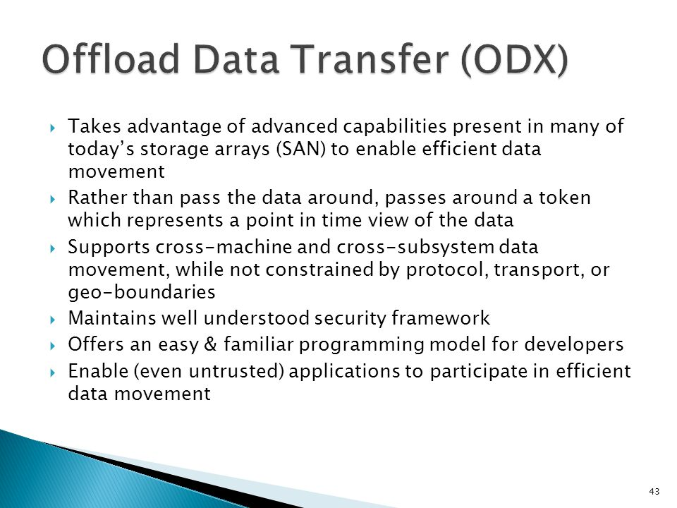 Offload Data Transfer (ODX)