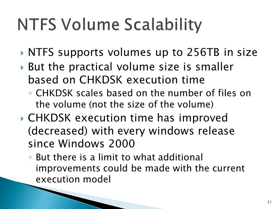 NTFS Volume Scalability