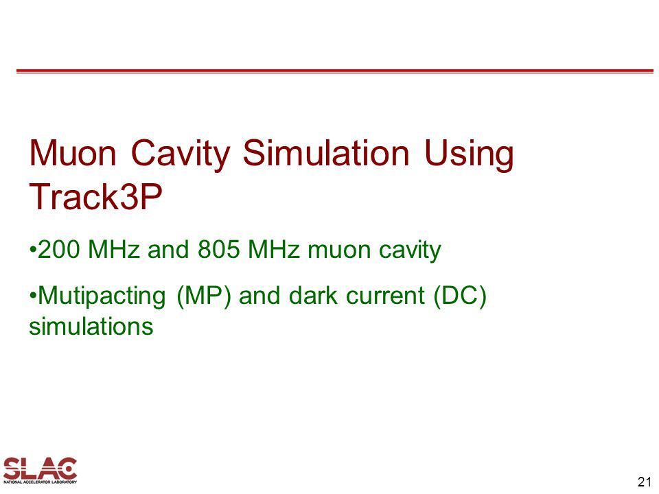 Muon Cavity Simulation Using Track3P