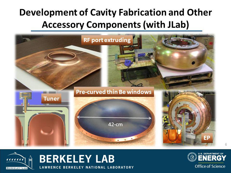 Development of Cavity Fabrication and Other Accessory Components (with JLab)