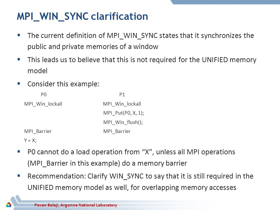 MPI_WIN_SYNC clarification