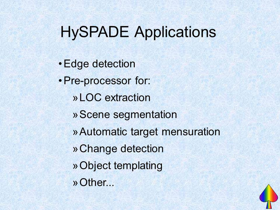 HySPADE Applications Edge detection Pre-processor for: LOC extraction