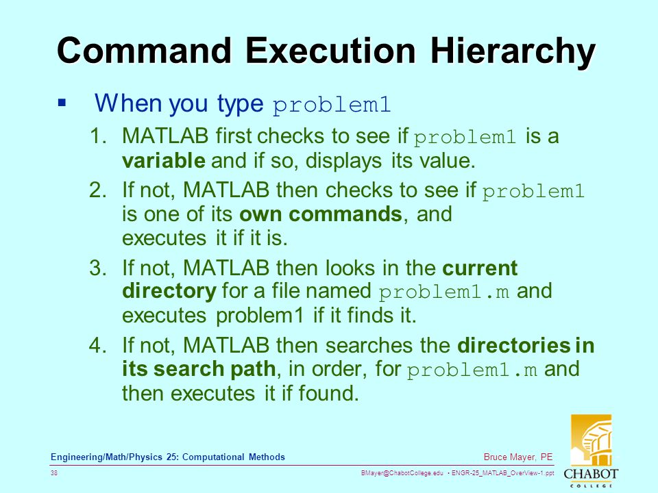 Command Execution Hierarchy