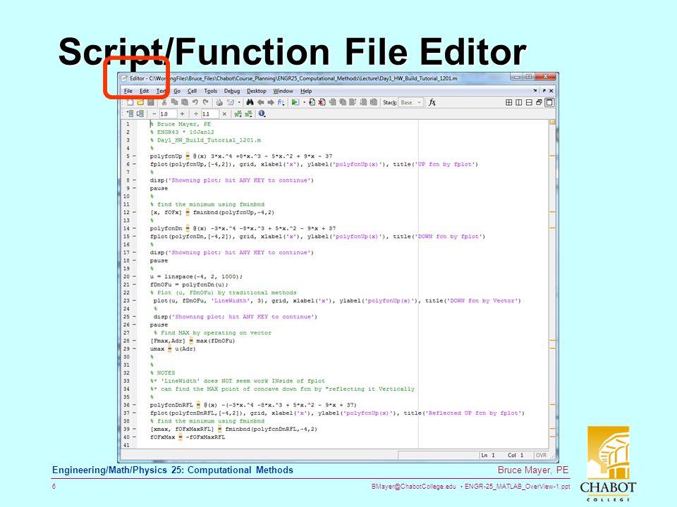 Script/Function File Editor