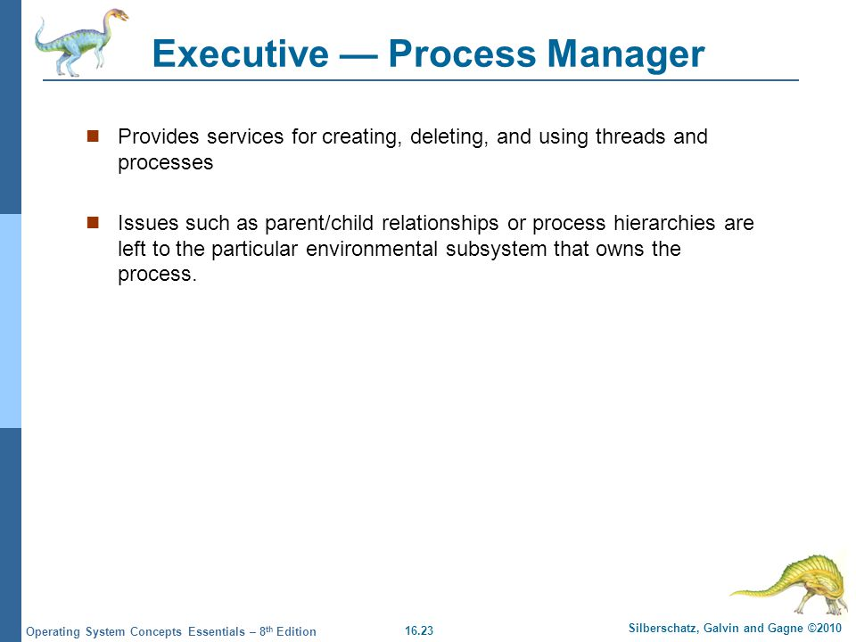 Executive — Process Manager