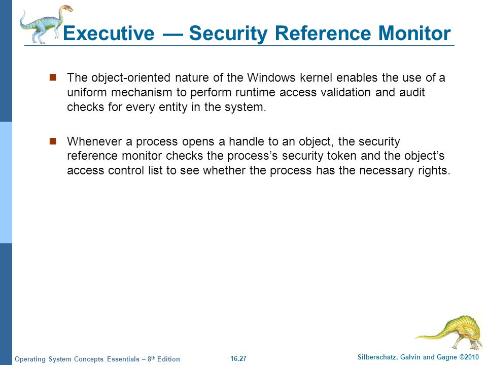 Executive — Security Reference Monitor