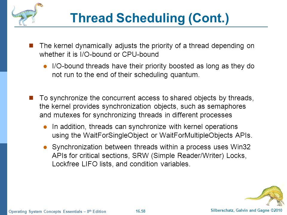 Thread Scheduling (Cont.)