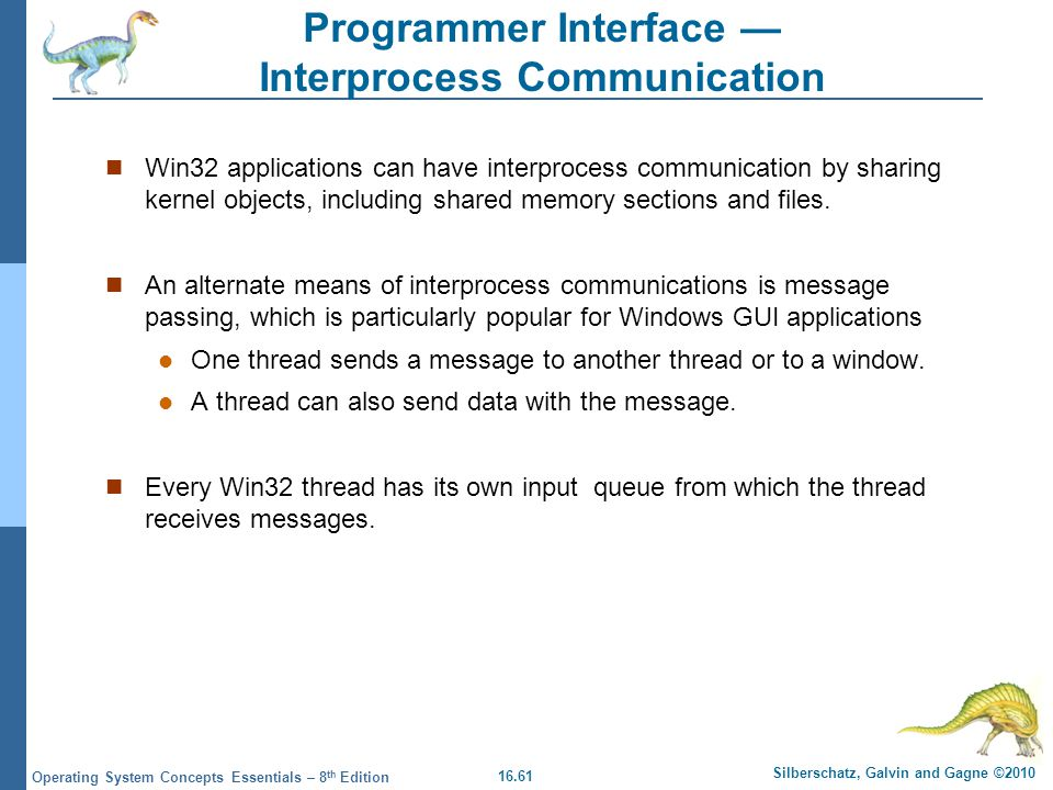 Programmer Interface — Interprocess Communication