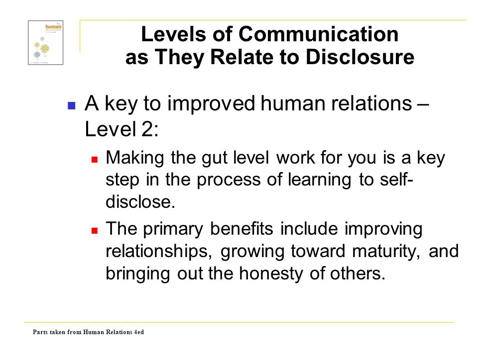 Levels of Communication as They Relate to Disclosure