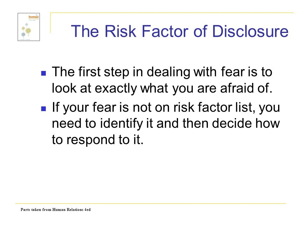 The Risk Factor of Disclosure