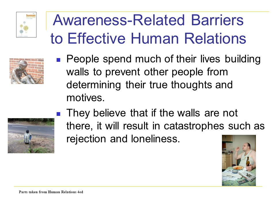 Awareness-Related Barriers to Effective Human Relations