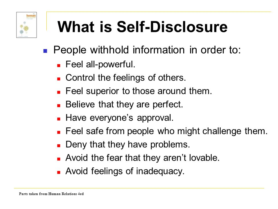 What is Self-Disclosure