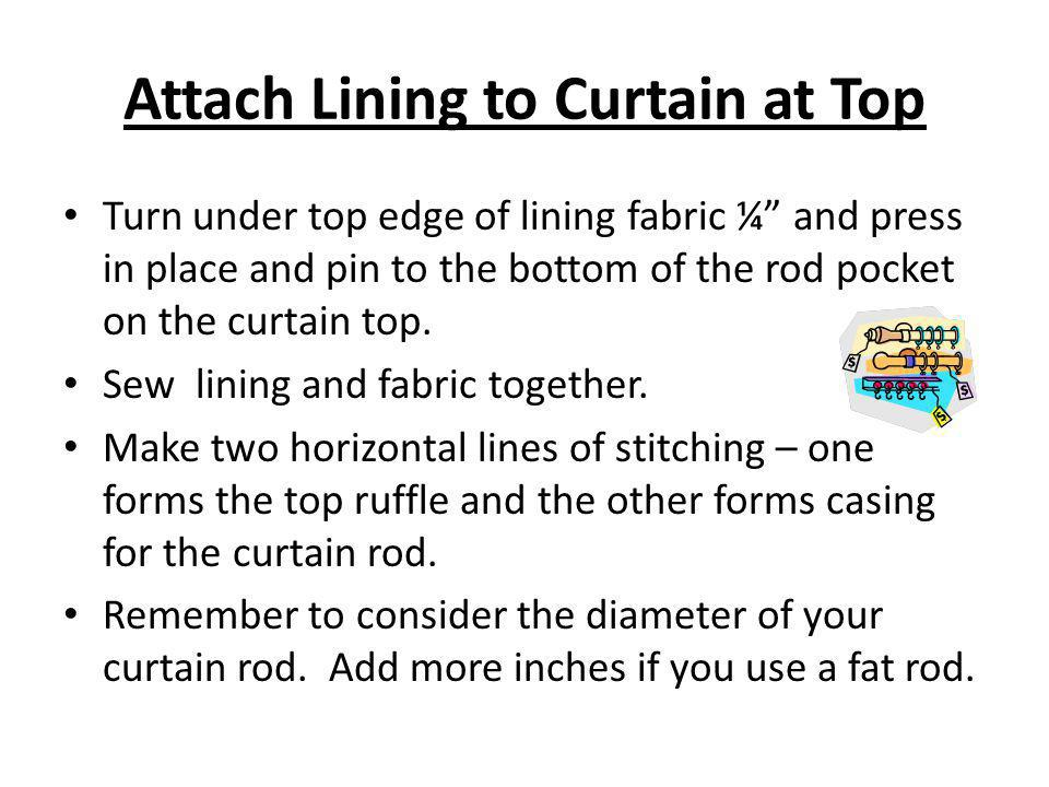 Attach Lining to Curtain at Top