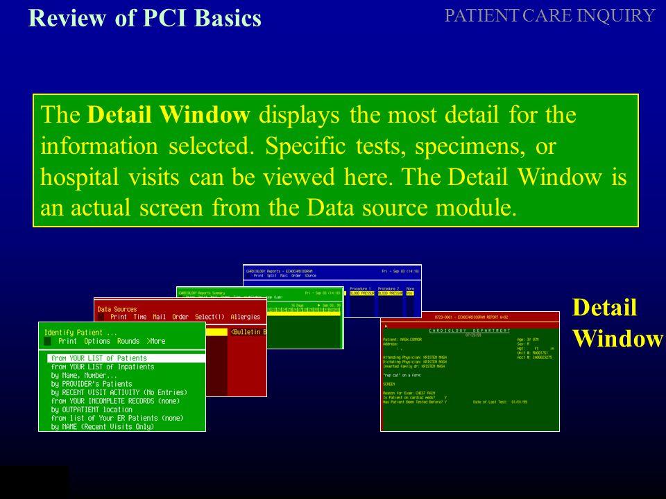 Review of PCI Basics
