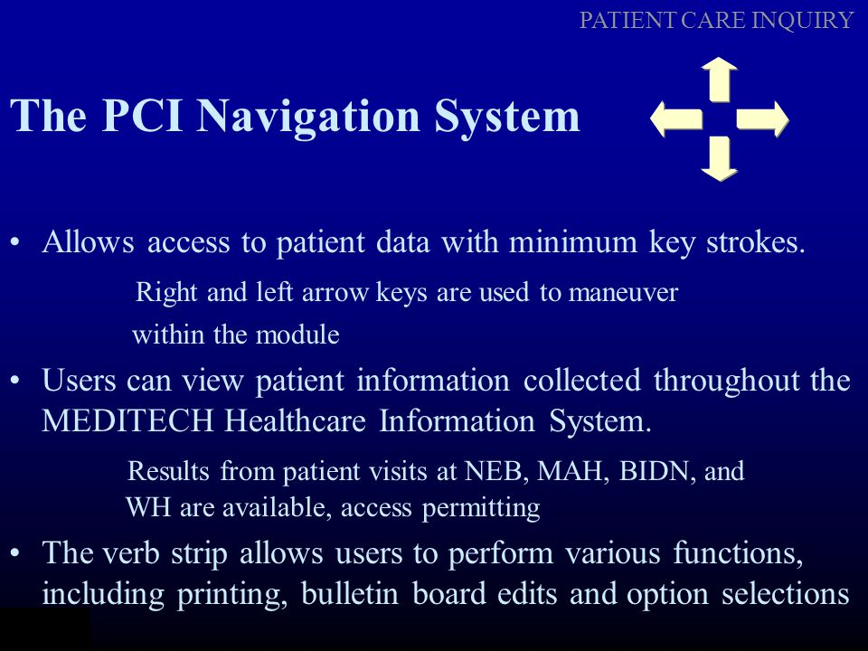 The PCI Navigation System