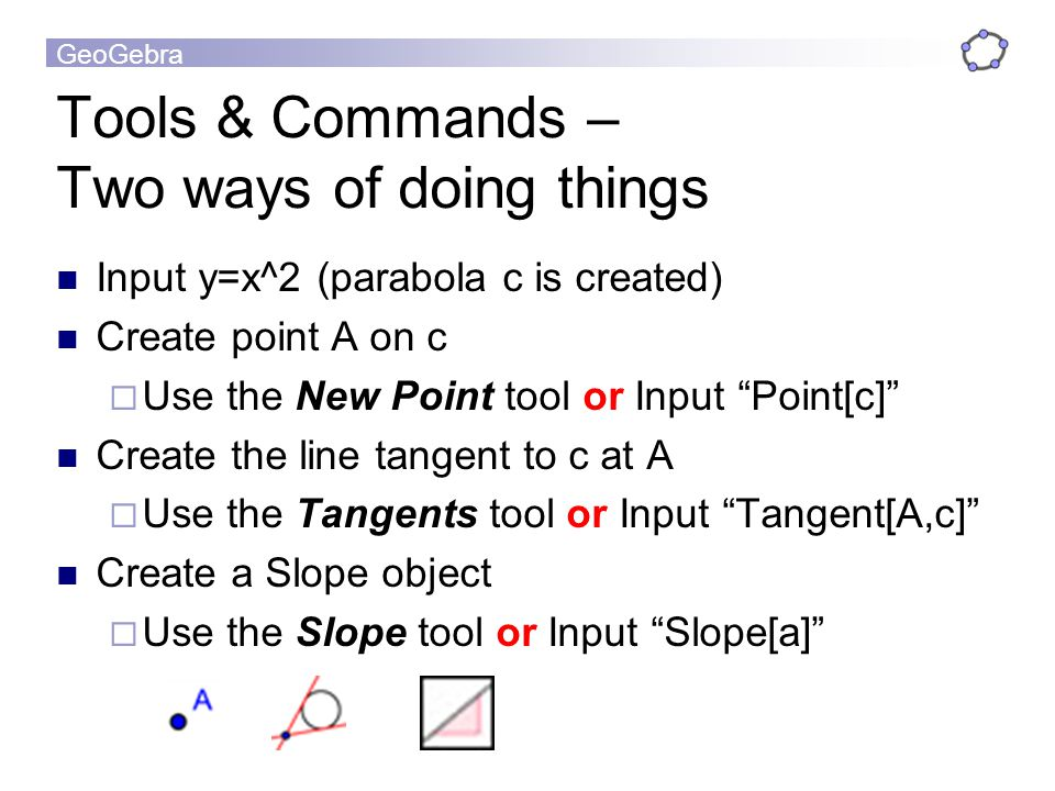 Tools & Commands – Two ways of doing things