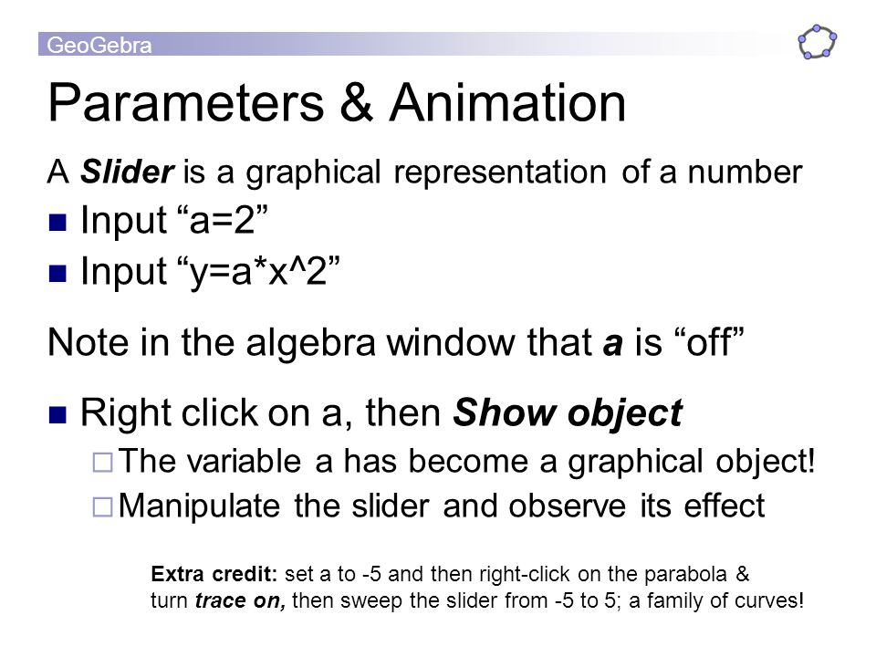 Parameters & Animation