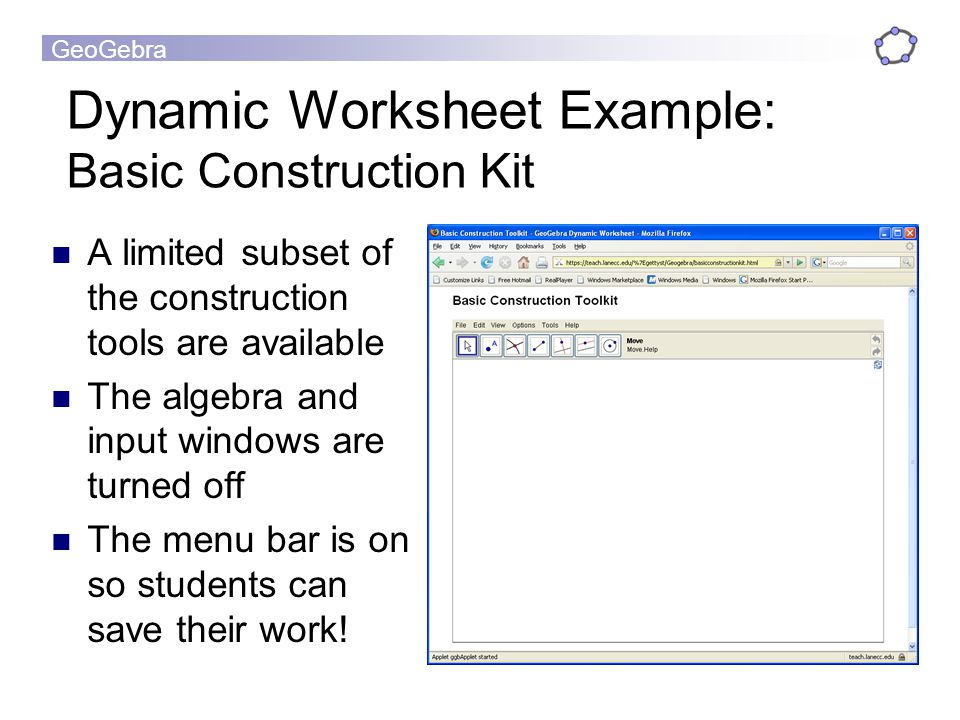 Dynamic Worksheet Example: Basic Construction Kit