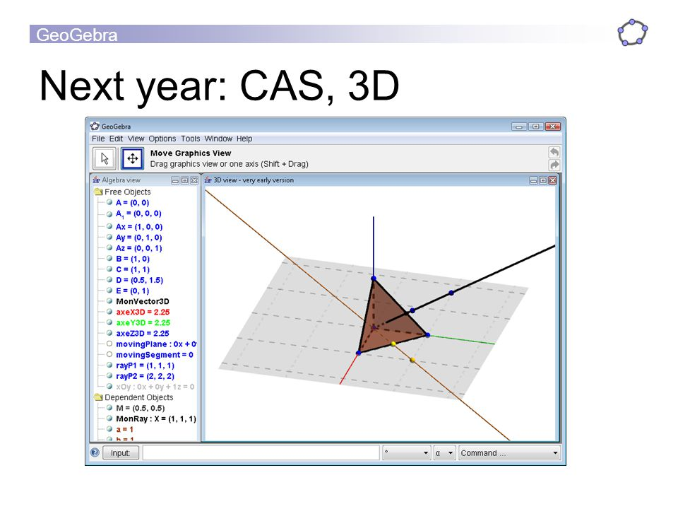 Next year: CAS, 3D