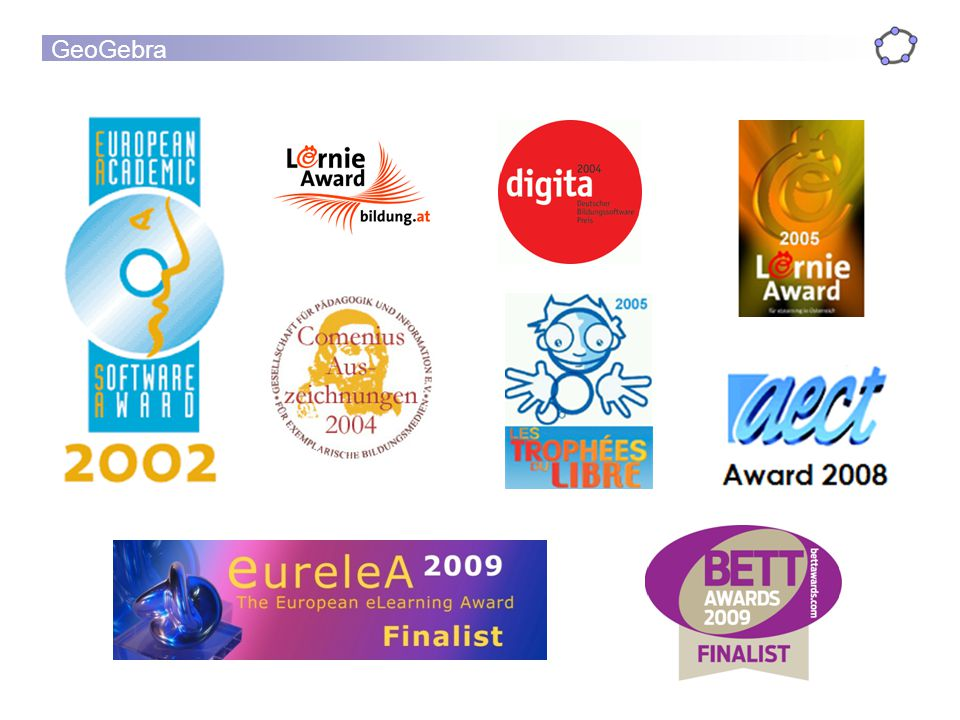 GeoGebra has received many awards.