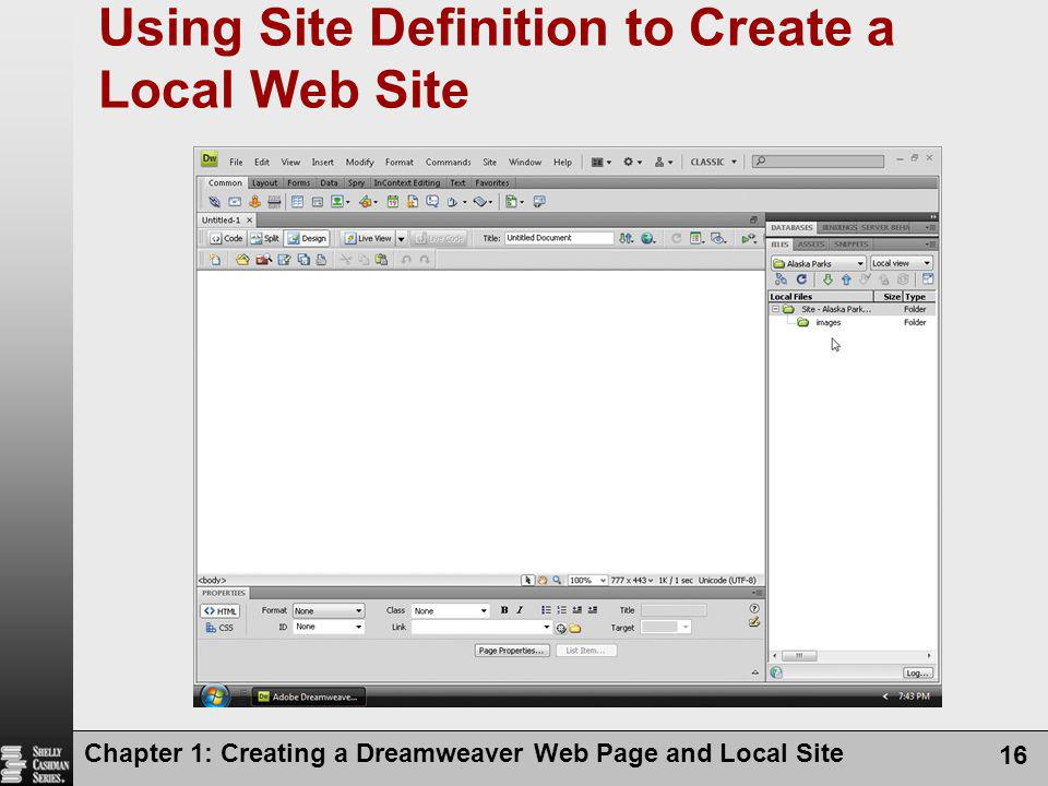 Using Site Definition to Create a Local Web Site