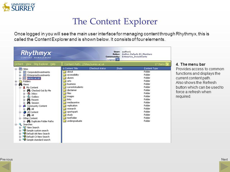 The Content Explorer