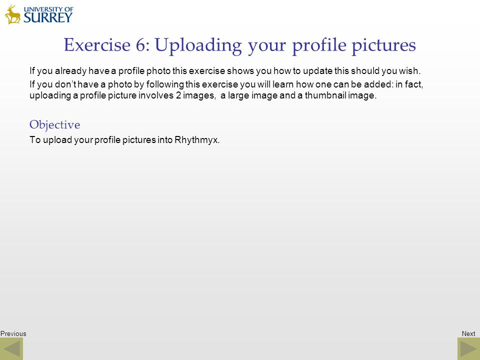 Exercise 6: Uploading your profile pictures