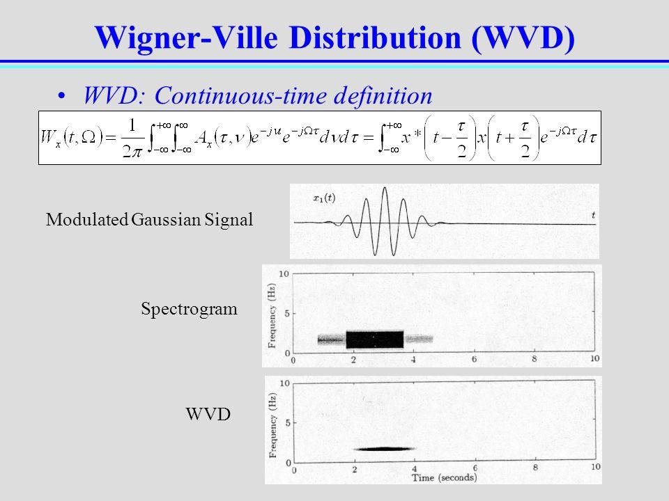 Wigner-Ville Distribution (WVD)