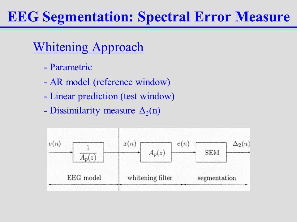 EEG Segmentation: Spectral Error Measure