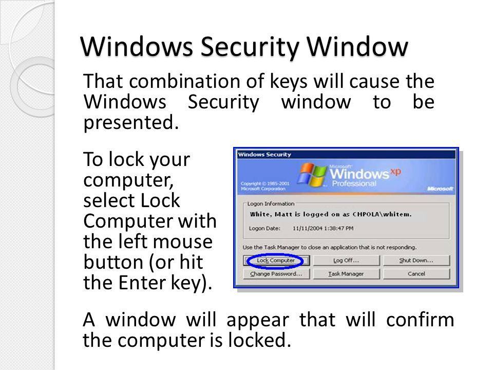 Windows Security Window