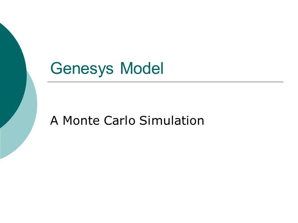 A Monte Carlo Simulation