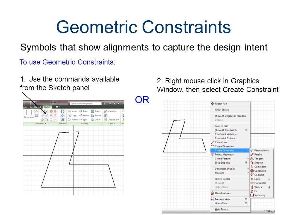 Geometric Constraints