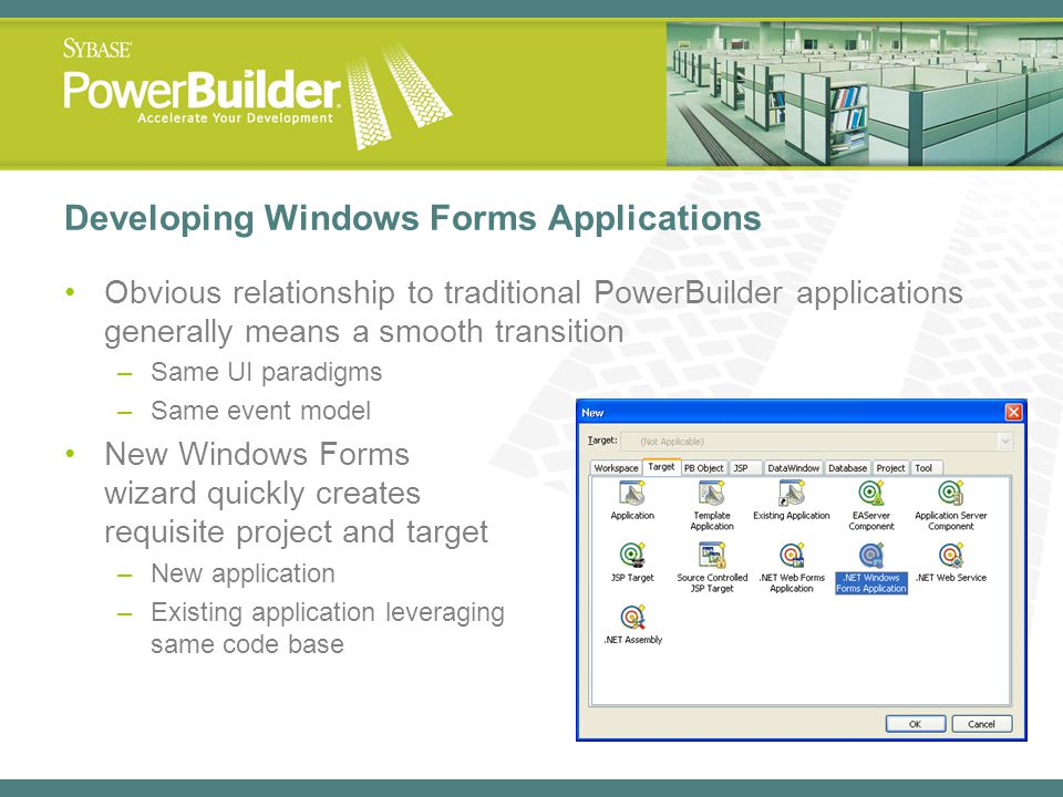 Powerbuilder 11: Windows Forms And .Net Interoperability - Ppt