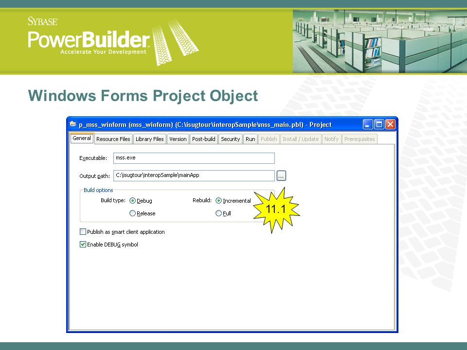 Windows Forms Project Object