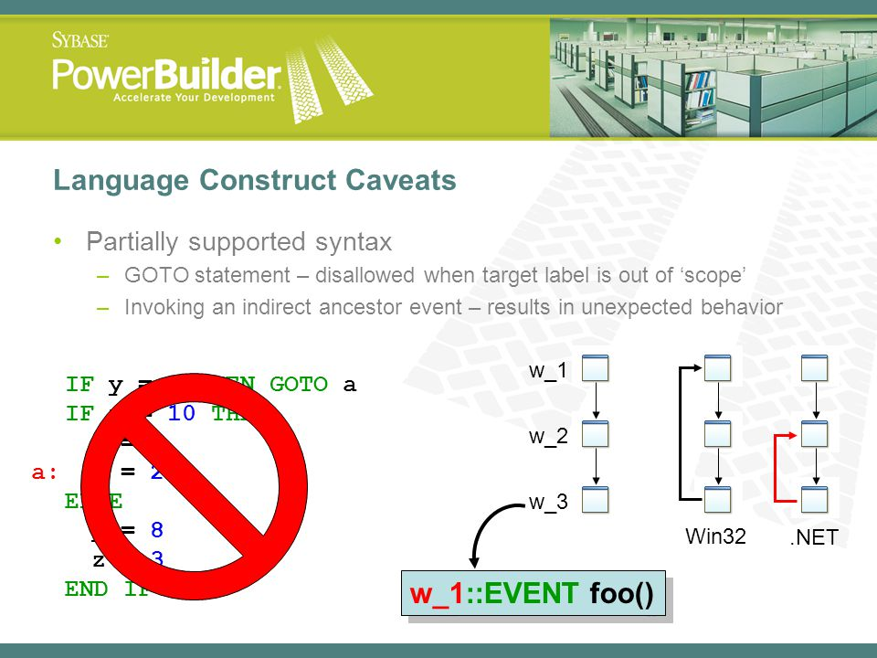 Language Construct Caveats