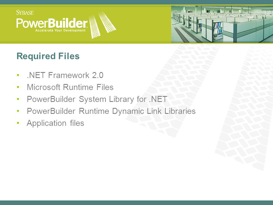 Required Files .NET Framework 2.0 Microsoft Runtime Files