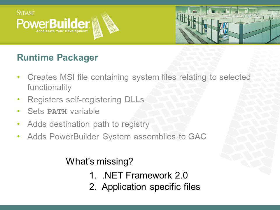 2. Application specific files