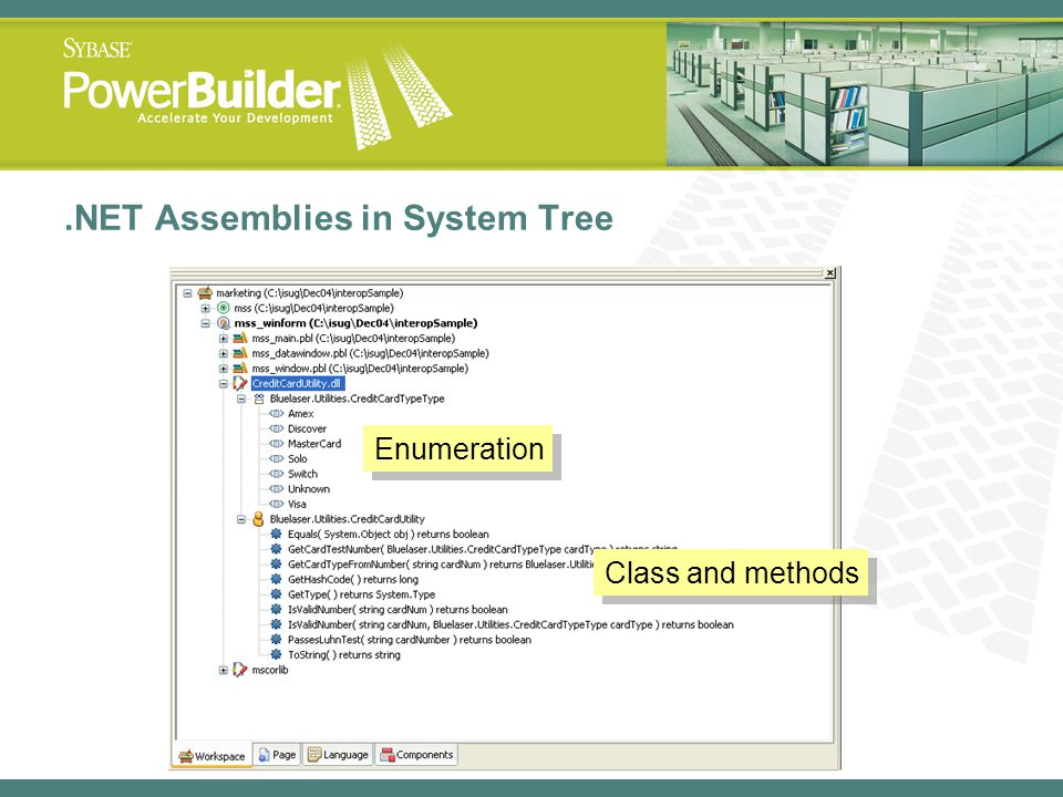 .NET Assemblies in System Tree