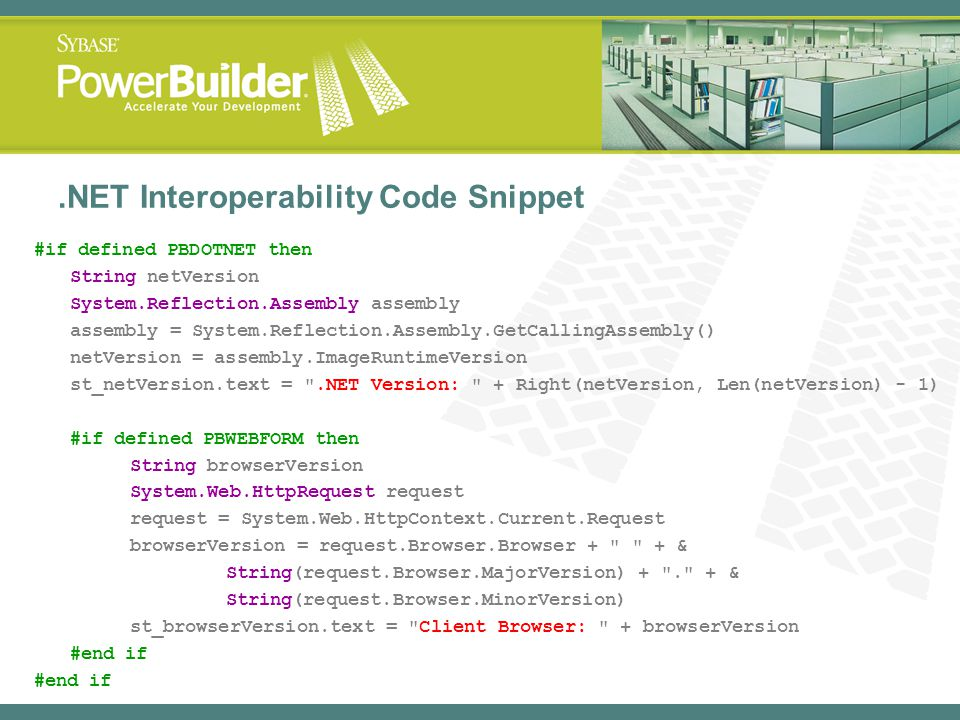 .NET Interoperability Code Snippet