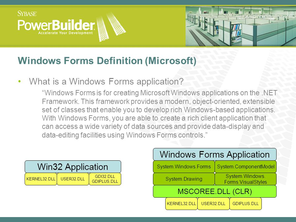 Windows Forms Definition (Microsoft)