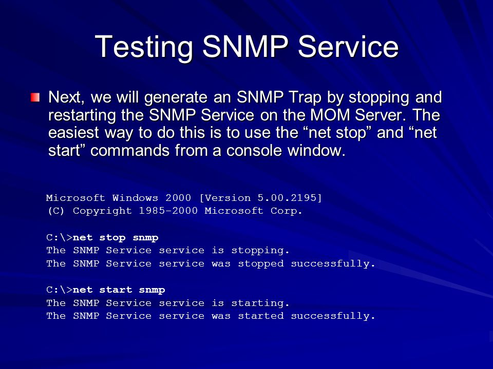 Testing SNMP Service