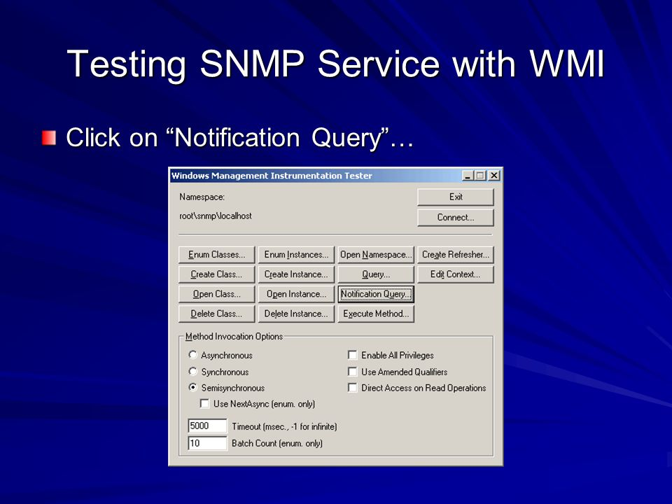 Testing SNMP Service with WMI