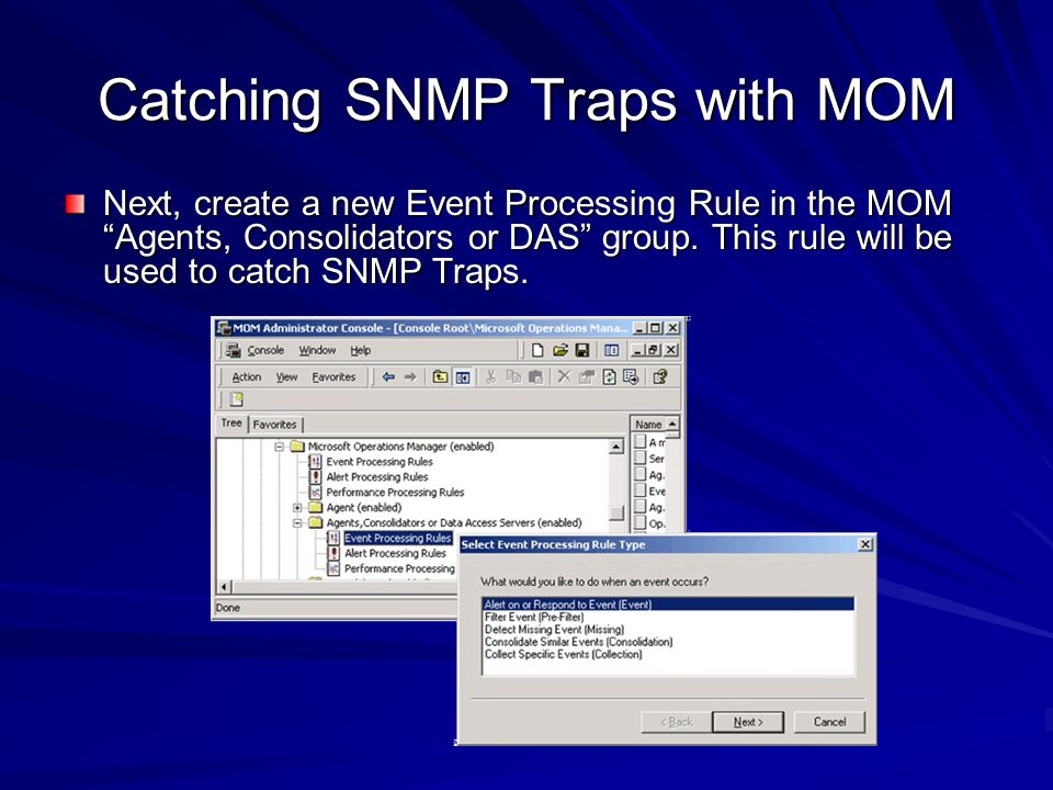 Catching SNMP Traps with MOM