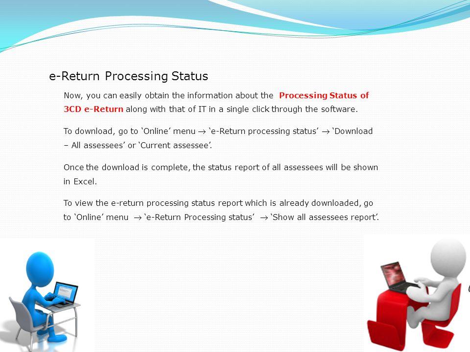 e-Return Processing Status