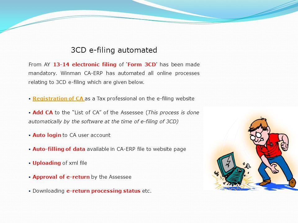 3CD e-filing automated